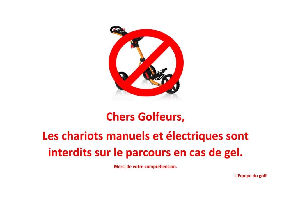 chariots interdits